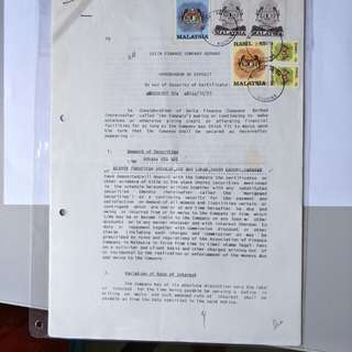 Old Malaysia document