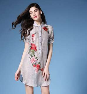 Brand new embroidered dresses(100% linen)