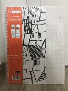 A4 Whitelines Grid notebook