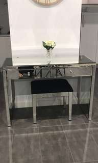 Mirrored hallway console/ dresser