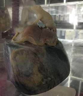 石頭雕刻- 青蛙