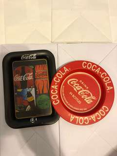 Lot of 2 Coca Cola trays
