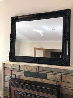 Vintage mirror black