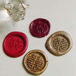 Double Happiness Wax Seals (10 pcs)