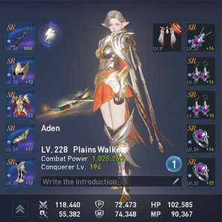 [LAST CALL] 1mil MAX LB+ENH Aden PW Plains Walker Lineage 2 Revolution Account (U.P. $400)