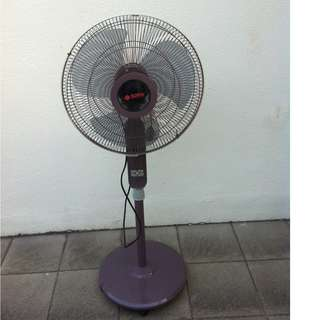 Sona stand fan. Only 1 yr old. In good working condition. All functions working and quiet.