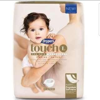 Drypers Touch L size 54 pcs