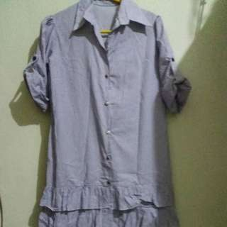 Dress biru pth