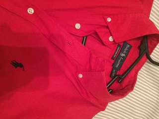 Red Ralph Lauren Button Up