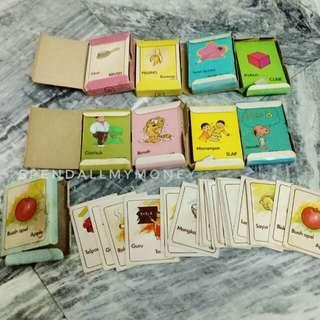 english vocabulary card pack - kartu bergambar