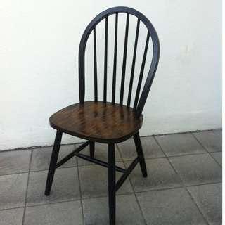Hard wood chair.