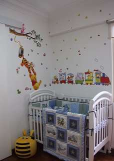 Baby Cot with matress and 2 set of bedding one in the picture