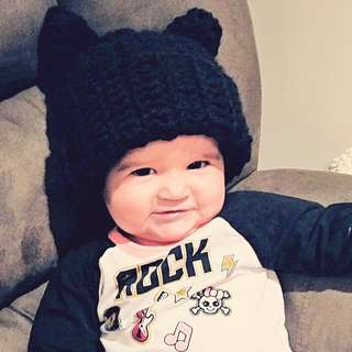 Handmade Baby Kitty Cat Hat by Snuggle Wear