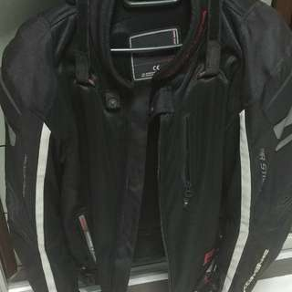 Komine eurXL jpn2XL full padding mesh touring jacket
