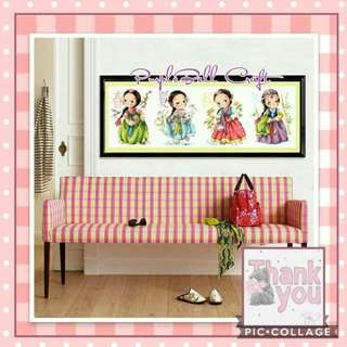 DIY 4 Season Korean Girl Cross Stitch Kit