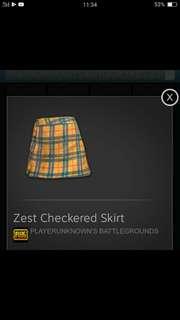 Zest checkered Skirt PUBG