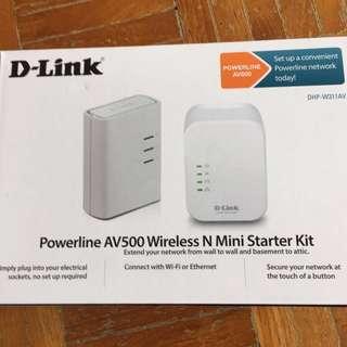 D-Link Wireless Powerline DHP-W311AV DHP-W310AV DHP-308AV WiFi  Dlink Homeplug AV500