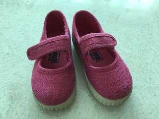 "Sparkly Pink Kids Shoes - ""Sarah Jane"" Size EU21"