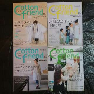 Cotton Friend Japanese Sewing Magazine (lot of 8)