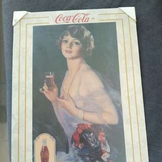 Coca cola vintage metal board