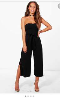 BOOHOO BLACK JUMPSUIT