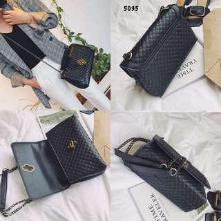 Quilted Shoulder Bag #5035#4  Kualitas: Semi Premium Size: 25x11x15 cm Bahan: Calfskin Variant: Black, Red, Blue, Brown Berat: 0.6 kg  Kualitas Jamin Bagus   H 150rb