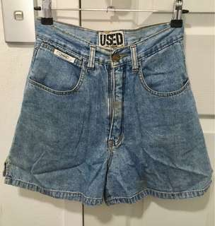 Used High Waist Denim Mom Shorts