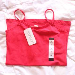 F21 Red undershirt (overrun sando)