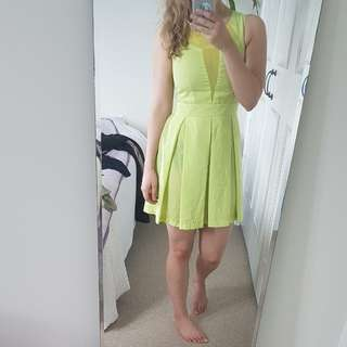 Fluro pleated dress