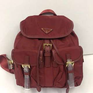 Sale!! Authentic Quality Prada Backpack (maroon)