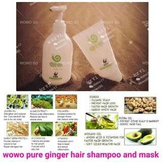 Wowo Ginger shampoo & conditioner