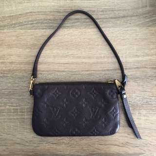 Authentic LOUIS VUITTON Empreinte Citadine Pochette Aube clutch or pouch
