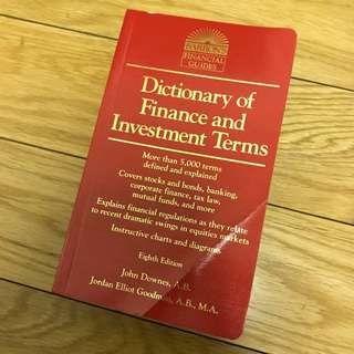 Barrons Dictionary of Finance and Investment Terms