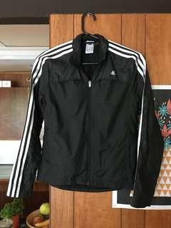 Vintage ADIDAS spray black stripe wind runner zipper jacket size XS 6