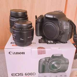 二手單眼相機機EOS 600D 雙鏡組【18-55+50】公司貨