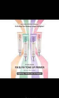 Etude house fix & fix tone up primer in rose SPF34 PA+++
