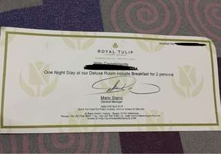 voucher stay di royal tulip gunung geulis . 5 star luxurious hotel puncak
