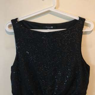 Forever21 Black Sparkly Dress