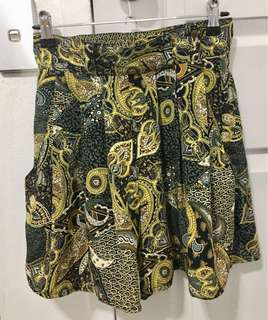 Vintage High Waisted Batik Shorts