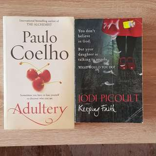 Books from best selling authors - Paulo Coelho and Jodi Picoult. $5 each
