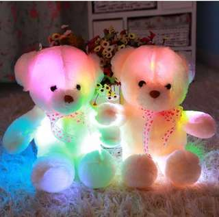 Mothers' Day gift / Birthday Gift: Bear with colourful luminous lights (50cm)