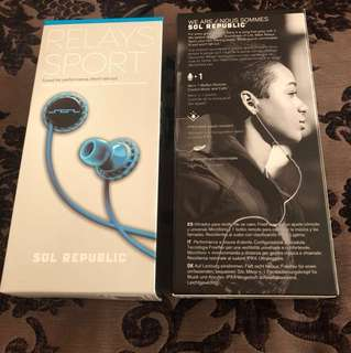Brand New SOL Republic relay sport wire headphone (sealed)