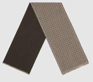 Gucci scarf gg beige brown