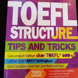 Toefl Structure Tips and Tricks