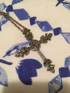 Gothic cross necklace