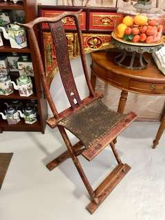 Antique hunting chair of Yunnan province