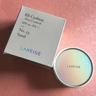 Laneige BB Cushion Pore Control (Shades: No.23 Sand)