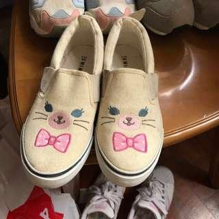 Swimmer 日本 休閒鞋 貓咪 帆布鞋