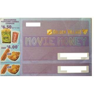 A pair of Weekend Golden Village Movie Tickets For Sale