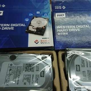 "WD Red NAS專用HDD 2TB硬碟  3.5"" SATA 64mb buffer"